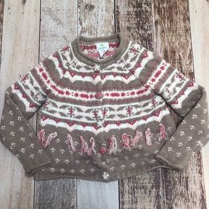 Emma's garden snap button sweater size 4T